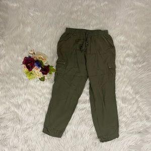 Hype Army Green Flowy Pants L
